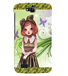Fuson 3D Printed Girly Designer back case cover for Huawei Honor Holly - D4134