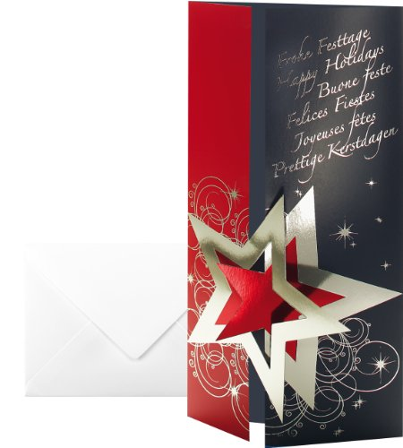 sigel-pleasure-tarjetas-de-navidad-con-sobres-cartulina-con-brillo-y-folia-interior-10-unidades-220-