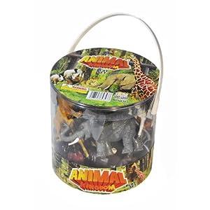 Bucket of Wild Jungle Animals