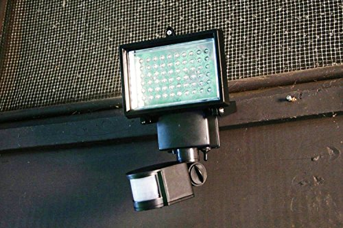 Lightahead 60 LED Solar Motion Sensor Light, Waterproof and all weather durable, Very bright ...