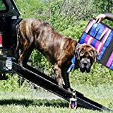 Truck Dog Ramp ~ Black ~ Triple Telescoping 84&quot; Dog Ramp