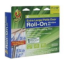 Duck Brand 281069 Roll-On Indoor Extra Large Window/Patio Door Premium Insulating Film Kit, 84-Inch x 112-Inch