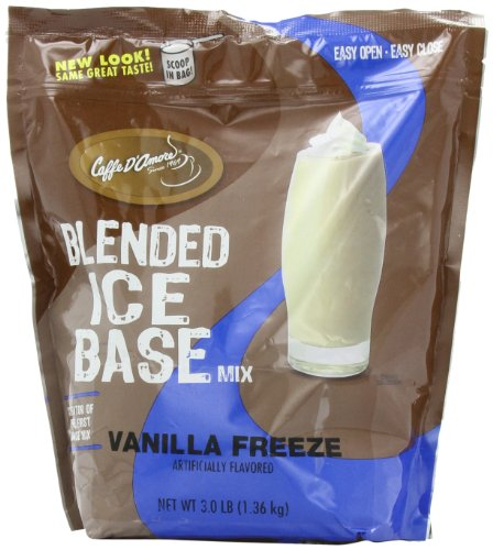 Caffe D Amore Frappe Base Mix, Vanilla Freeze, 3-Pound