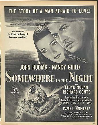 john hodiak nancy guild in somewhere in the night movie ad