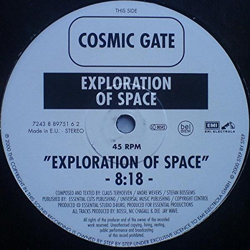 Cosmic Gate - Exploration Of Space / Melt To The Ocean - Zortam Music