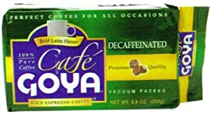Goya Foods Brick Pack Decaf Coffee, 8.8-Ounce