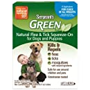 Sergeant's Green Flea and Tick Sqz-On Flea Drops for Dog, 6 Count