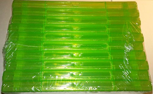 10 Official Microsoft XBox 360 Green Replacement Game Cases OEM (Xbox 360 Replacement Console Case compare prices)