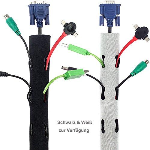 preisvergleich zacro neopren kabelmanagement kabelschlauch kabelkanal willbilliger. Black Bedroom Furniture Sets. Home Design Ideas