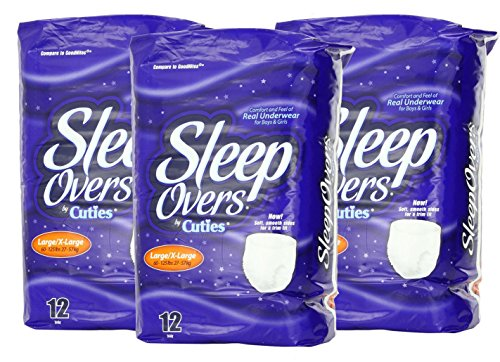 SleepOvers by Cuties 12 Pair L/XL 3-Pack - 1