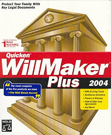 NOLO Quicken WillMaker Plus 2004