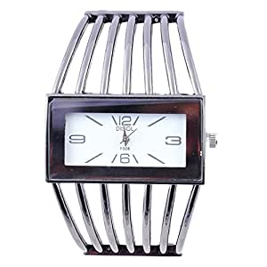 SUNTRANCE White Metal Strap Analog Watch For Girls