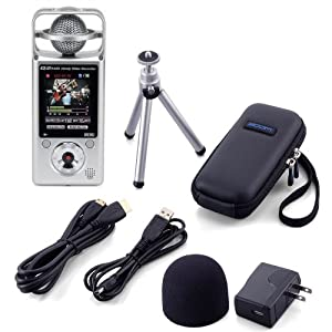 Zoom Q2HD Handy Video Recorder With Case Mini Tripod Usb Cable HDmi Cable Ac Adapter And Windscreen