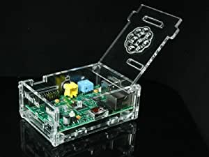 Acryl Gehäuse für Raspberry Pi Model B mit 512MB RAM, mit Öffnung für Micro SD/SD Adapter