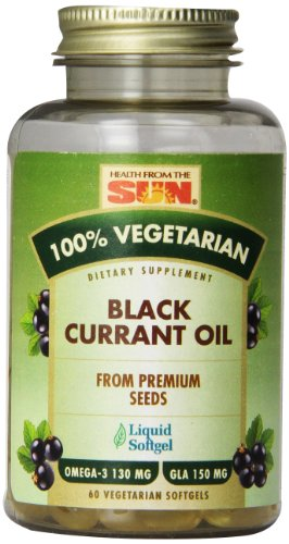 Health From The Sun 100% Vegetarian Black Currant Oil Softgels, 60-Count (Omega 3 6 Black Currant Oil compare prices)