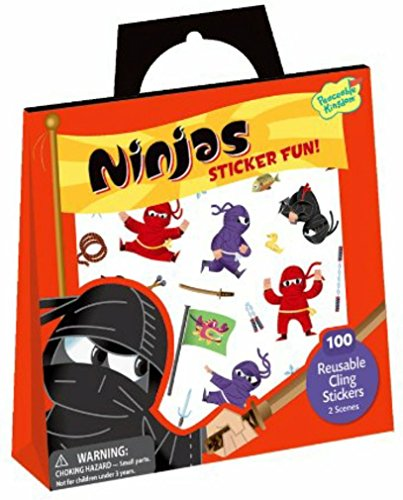Peaceable Kingdom Ninjas Reusable Sticker Tote