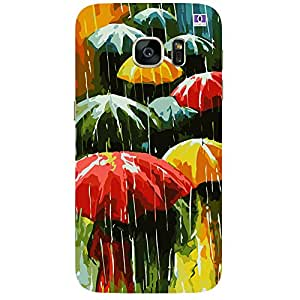 Rain With Umbrella - Mobile Back Case Cover For Samsung Galaxy Note 7