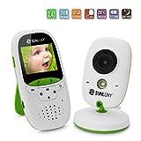 """SUNLUXY® 2"""" Baby Monitor LCD a Colori Wireless Digitale Videocamera IR LED Citofono Visione Notturna Monitoraggio Temperatura 8 Ninnananne Batteria Ricaricabile per Bambini Videosorveglianza Sicurezza ..."""