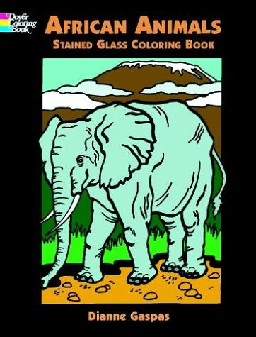African Animals Stained Glass Colou