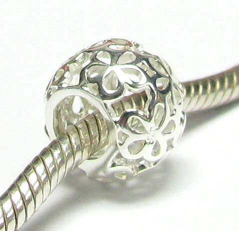 Sterling Silver Daisy Flower Beads for Pandora
