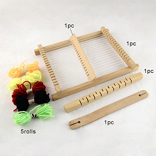 Knitting Looms Wood : Pandahall set wood knitting weaving looms diy with yarns
