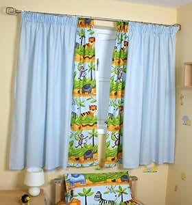 safari curtains blue baby nursery window treatments baby