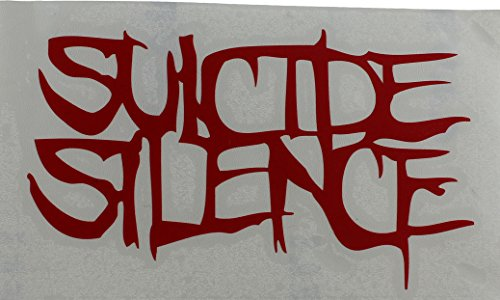 Licenses Products Suicide Silence Logo Rub On Sticker, Red