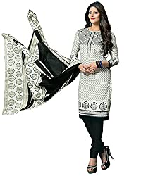 BAPUJI PRINT - WOMEN'S COTTON UNSTITCH DRESS MATERIALS - SE - 009