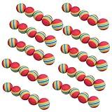 Vktech 50pcs Golf Swing Training Aids Indoor Practice Sponge Foam Rainbow Balls