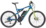 Prophete Rex Bergsteiger 6.9 51666-0111 Vélo électrique avec cadre VTT 650B en aluminium avec suspension Hauteur du cadre 50 cm Bleu mat 69,85 cm (27,5')