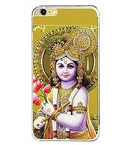 Fuson Premium Stunning Krishna Metal Printed with Hard Plastic Back Case Cover for Apple iPhone 6
