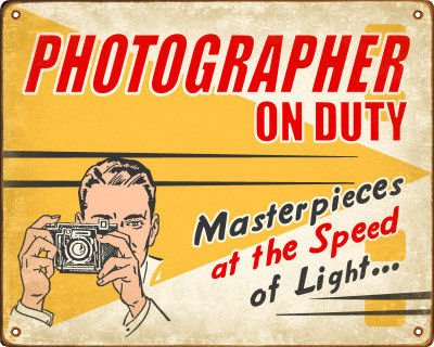 Photographer Sign (Male)
