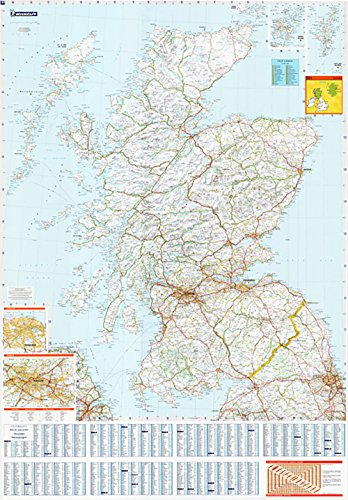 large-laminated-wall-map-of-scotland-by-michelin