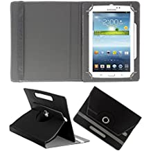 Acm Rotating 360° Leather Flip Case For Samsung Galaxy Tab 3 T211 P3200 P3210 Tablet Cover Stand Black