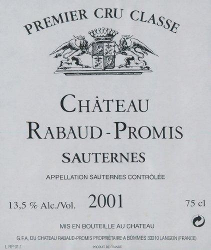 Rabaud Promis 2001 Rabaud-Promis, Sauternes 750 mL