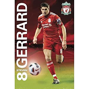 Liverpool Fc Steven Gerrard With Ball Sports Poster Print - 61x91 Cm from Poster Revolution