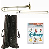 Classic Disney Bb Tenor Slide Trombone Pack - Includes Trombone w/Case & Accessories & Play Along Book