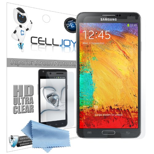 Celljoy Samsung Galaxy Note Iii / Note 3 Premium High Definition (Hd) Ultra Clear (Invisible) Screen Protectors With Lifetime Replacement Warranty [5-Pack] - Retail Packaging