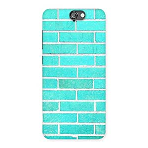 Enticing Brick Cyan Back Case Cover for HTC One A9