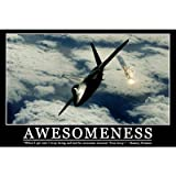 Awesomeness Motivational Funny Barney Stinson Quote Print Poster - 24x36
