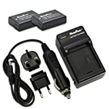 MaximalPower FC500 NIK ENEL14 Travel Charger and Replacement Battery for Nikon EN-EL14
