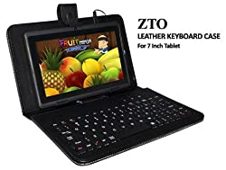 ZTO 7 Inch Keyboard Stand Case Black For Android Tablet