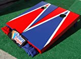 Red & Blue Custom Painted Cornhole Bag Toss Game Set