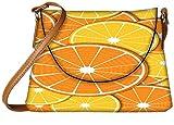 Snoogg Orange fever 2372 Womens Carry Around Sling Bags