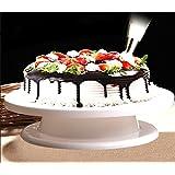 Ohuhu® Cake Turntable/ Revolving Cake Decorating Stand / Cake Stand, Elegant White