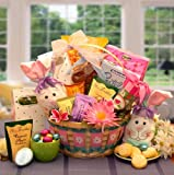 Happy Easter to You! Fun Easter Gift Basket of Asher's Candies with Plush Bunny