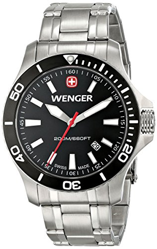 Wenger-Mens-0641105-Sea-Force-3H-Analog-Display-Swiss-Quartz-Silver-Watch