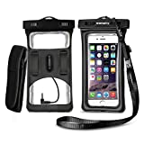 Vansky Floatable Waterproof Case Dry Bag with Armband and Audio Jack for iPhone 7 Plus, 7, 6, 6 Plus, 6s,5s,Andriod; Eco-Friendly TPU Construction and IPX8 Certified to 100 Feet