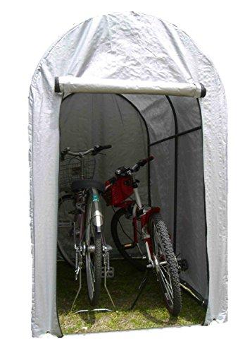 サイクルガレージ 2台用 シルバー