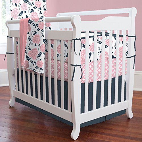 Navy And White Crib Bedding 9988 front